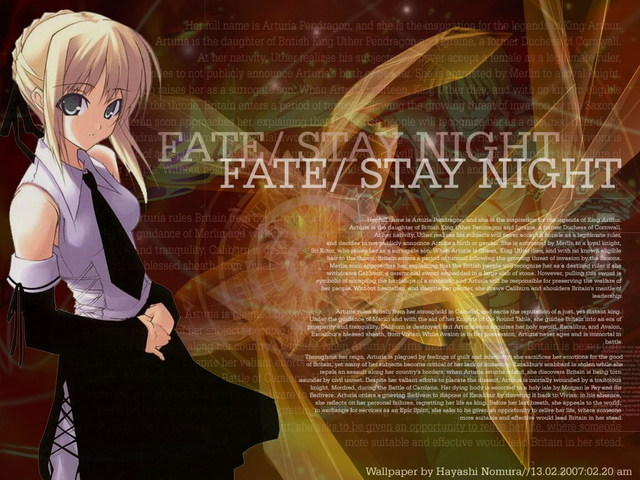 Fate/Stay Night Anime Wallpaper #9
