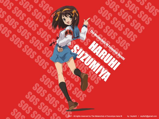 The Melancholy of Haruhi Suzumiya Anime Wallpaper #1