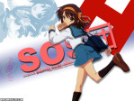 The Melancholy of Haruhi Suzumiya Anime Wallpaper # 25