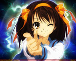The Melancholy of Haruhi Suzumiya Anime Wallpaper # 31