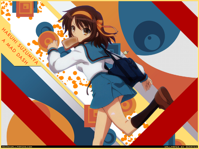 The Melancholy of Haruhi Suzumiya Anime Wallpaper #38