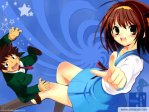 The Melancholy of Haruhi Suzumiya Anime Wallpaper # 3