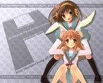 The Melancholy of Haruhi Suzumiya Anime Wallpaper # 6