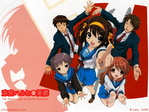 The Melancholy of Haruhi Suzumiya Anime Wallpaper # 35