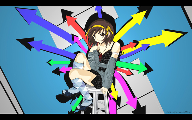 The Melancholy of Haruhi Suzumiya Anime Wallpaper #39